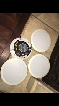"""Two pair of Tru Audio 8 ohm speakers like new  like new 11"""" diameter Coquille, 97423"""