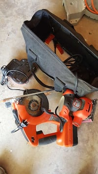 two black and orange power tool case Great Falls, 22066