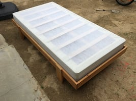 Twin bed and box spring