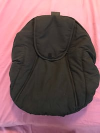 Car seat cover with attached blanket