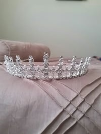 silver-colored tiara and white gemstones London, N6E 2M5
