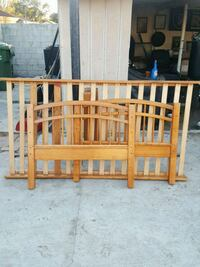 brown wooden bed frame Whittier, 90602