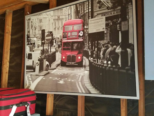 used ikea london bus picture hard canvas for sale in. Black Bedroom Furniture Sets. Home Design Ideas