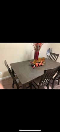 rectangular brown wooden table with four chairs dining set Gaithersburg, 20877