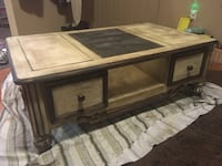 Newly refinished solid wood table w storage drawers Ringgold, 30736