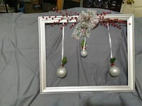 gray wooden framed with three baubles Anderson, 29624