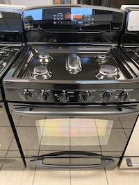 GE Profile 5 Burner Double Oven Gas Range