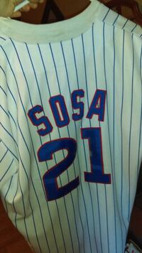 Cubs Sammy Sosa Jersey made by Mitchell and ness Hazel Green, 35750