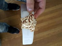 white Versace leather belt with gold buckle Oakland, 94601