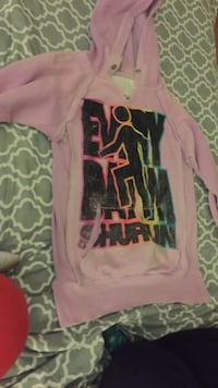 pink,black and green pullover hoodie size small