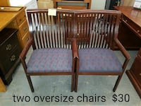 Two oversize chairs