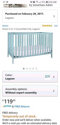 baby's white wooden crib screenshot 927 mi