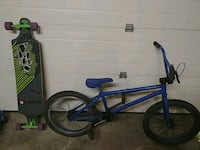 blue and black BMX bike 3497 km