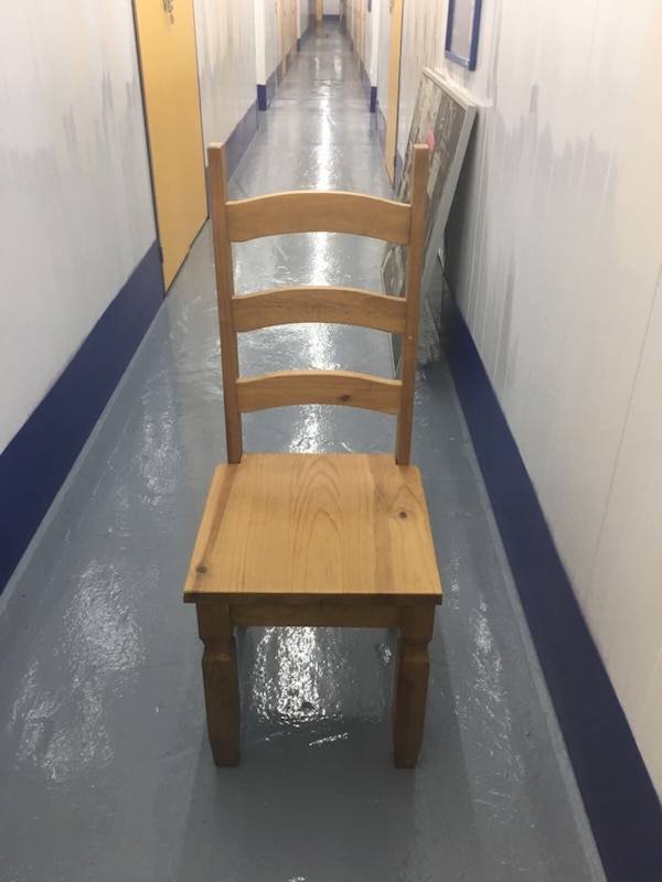 Used Brown Wooden Ladder Back Chair For Sale In Birmingham Letgo