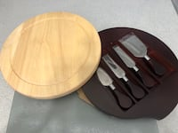 Cheese serving set.  Whitby, L1R 2C8