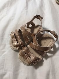 pair of gray leather open-toe sandals Surrey, V3W 3V5