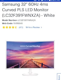 Samsung monitor 32 curve Vancouver, V5X 0C7