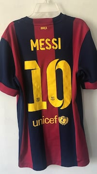 Red and black messi 10 jersey shirt Sterling, 20165