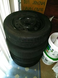 black bullet hole car wheel with tire set Centreville, 20120
