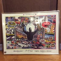 All-Star Race poster with gray frame