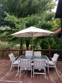 Outdoor Patio Table, Side Table, and Chairs Chesaning, 48616