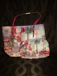 white and pink floral tote bag Jefferson City, 65101