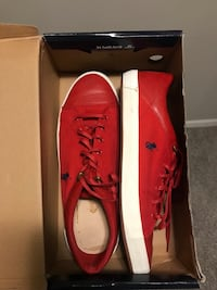pair of red leather dress shoes with box Corpus Christi, 78414