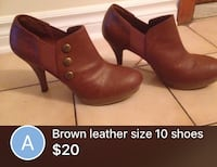 pair of size 10 brown leather booties