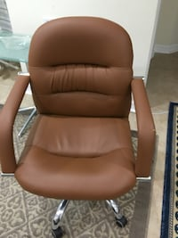 brown leather rolling chair Rockville, 20850