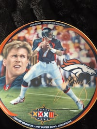 1997 john elway nfl quarterback club limited edition decorative plate