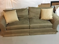 "Basset furniture green standard couch 90"" long x 38"" tall x 37"" wide Laurel, 20723"