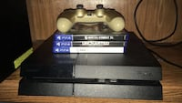 Black sony ps4 console with controller  Houston, 77067