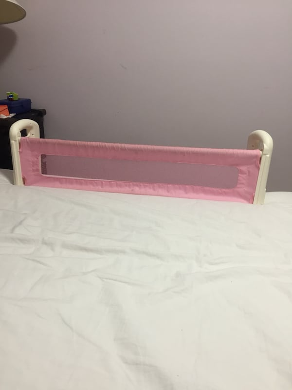 Top of the mattress Bed Rail - Pink 0