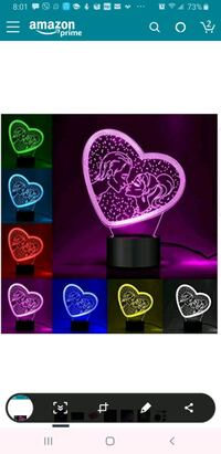 New 3D Night Light Anniversary Wedding Birthday Va Fair Oaks, 95628