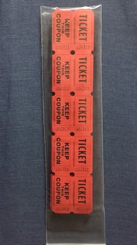 Red Raffle Tickets  Double Sided - 100 Tickets