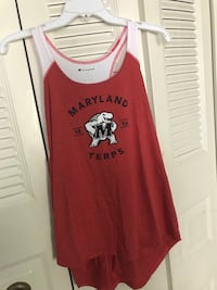 red and white crew-neck sleeveless shirt Laurel, 20708