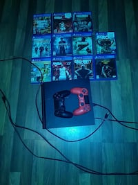 Ps4 with 2 controllers and 11 games  Fort Worth, 76117