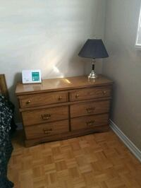 brown wooden dresser with mirror Vaughan, L4H 1L2