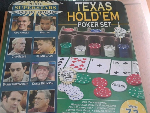 Texas Hold'Em poker set box