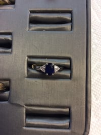 14kt white gold sapphire and diamond ring asking $200. will sell today for only $140.00 Manassas Park, 20111