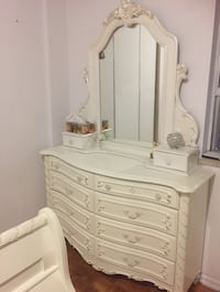 Three twin size bed frames, two mirror dresser and one night table $300 each peace Surrey, V3S 2E4