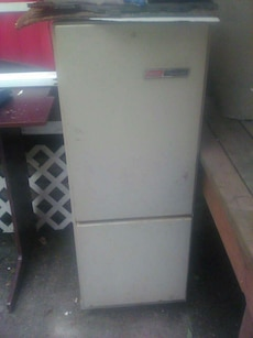 beige bottom mount refrigerator