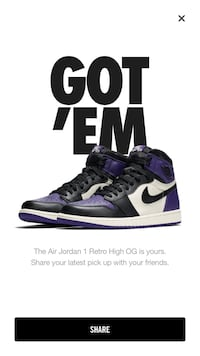 Purple Air Jordan 1 size 11  Bethesda, 20814