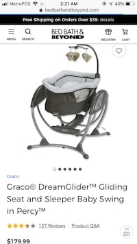 Baby's white and black graco cradle and swing Matthews, 28105