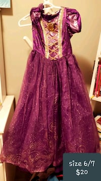 women's purple and pink floral dress