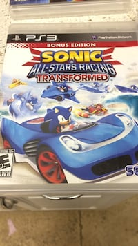 sonic & all star racing transformed ps3 game Mission Viejo, 92692