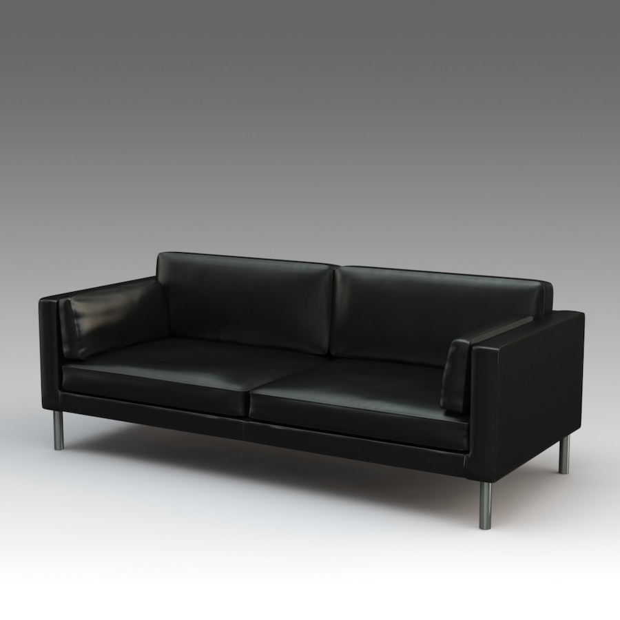 - Used IKEA Säter Leather Sofa, Dark Brown For Sale In Morgan's