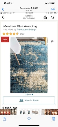 Brand new, gorgeous , modern area rug