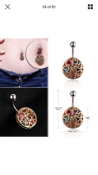 Brand New Gorgeous Belly Ring - Still in packaging!!
