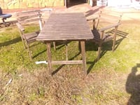 Table and 2 chairs solid wood